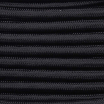 18/2 SVT-B Black Nylon Fabric Cloth Covered Pendant and Table Lamp Wire