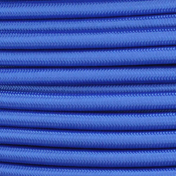 18/2 SVT-B Blue Nylon Fabric Cloth Covered Pendant and Table Lamp Wire