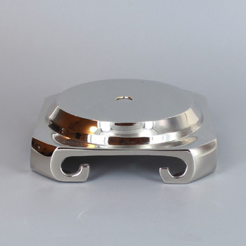 3-1/2in. Seat Nickel Plated Cast Brass Base with Four Legs.