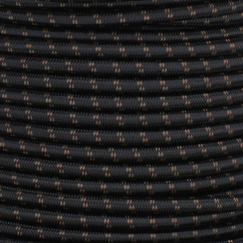 18/2 SVT-B BLACK/BROWN 2 TIC TRACER PATTERN NYLON FABRIC CLOTH COVERED PENDANT AND LAMP WIRE