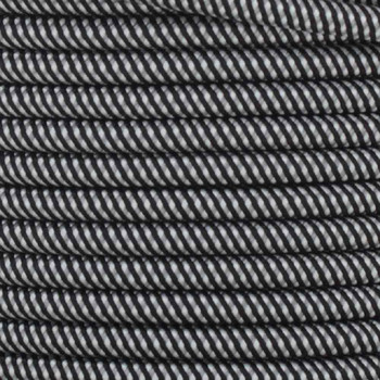 18/2 SVT-B BLACK/WHITE SWIRL PATTERN NYLON FABRIC CLOTH COVERED PENDANT AND TABLE LAMP WIRE