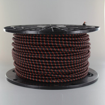 18/2 SVT-B BLACK/SAFE ORANGE 2 TIC TRACER PATTERN NYLON FABRIC CLOTH COVERED PENDANT AND TABLE LAMP