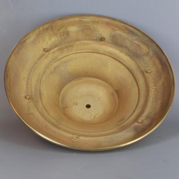 11in Diameter Case Brass Floor Lamp Base - Unfinished Brass
