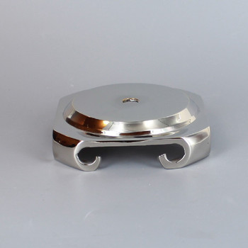 3 in. Seat Nickel Plated Cast Brass Base with Four Legs.