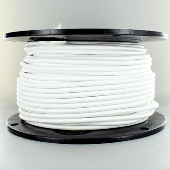 18/3 SVT-B White Nylon Fabric Cloth Covered Pendant and Table Lamp Wire