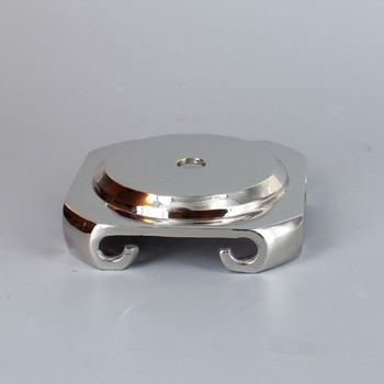 2-1/2in. Seat Nickel Plated Cast Brass Base with Four Legs.