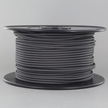 18/1 Single Conductor Gray Nylon Overbraid AWM 105 Degree white Wire