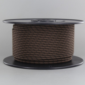 18/1 Single Conductor Brown with Black Marker Nylon Over Braid AWM 105 Degree Black Wire