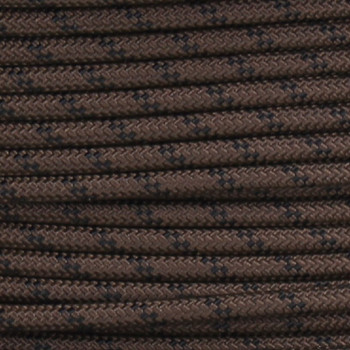 18/1 Single Conductor Brown with Black Marker Nylon Over Braid AWM 105 Degree White Wire