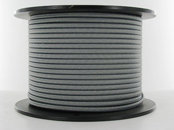 18/2 Gray Rayon Flat Braided Cloth Covered Two Conductor Wire
