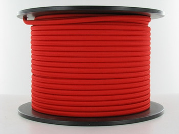 18/2 Red Rayon Flat Braided Cloth Covered Two Conductor Wire