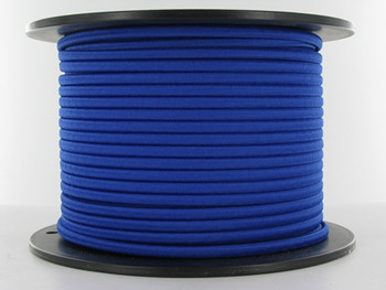 18/2 Blue Rayon Flat Braided Cloth Covered Two Conductor Wire