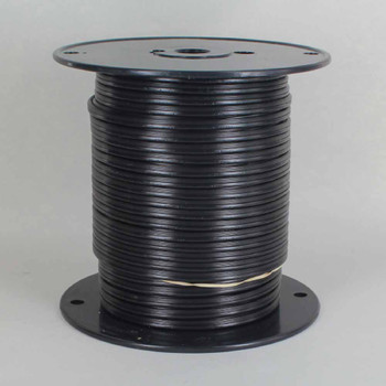 18/2 SPT 1-1/2 - BLACK PVC JACKET - Stranded Copper - Lamp and Lighting Wire