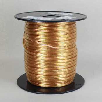 18/2 SPT 1-1/2 - TRANSPARENT GOLD PVC JACKET - Stranded Copper - Lamp and Lighting Wire
