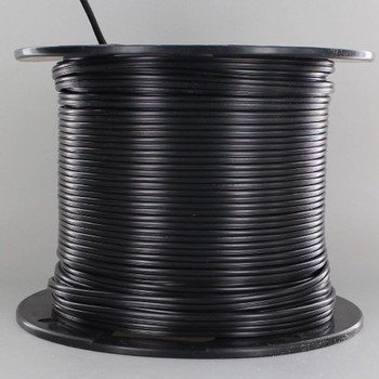 18/2 SPT1 - BLACK PVC JACKET - Stranded Copper - Lamp and Lighting Wire