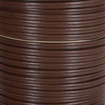 18/2 SPT 1-1/2 - Brown PVC JACKET - Stranded Copper - Lamp and Lighting Wire