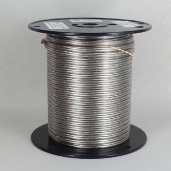 18/2 SPT 1-1/2 - Transparent Clear Silver PVC JACKET - Stranded Copper - Lamp and Lighting Wire