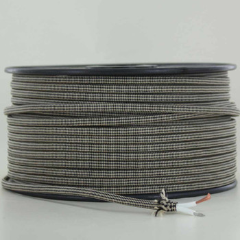 18/2 SPT1-B Beige/Black Diamond Pattern Nylon Fabric Cloth Covered Lamp and Lighting Wire