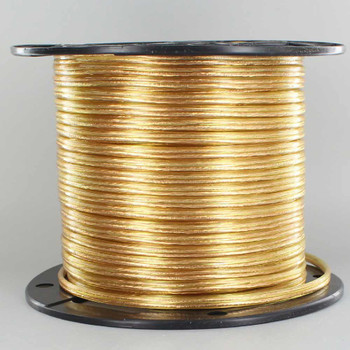 18/2 SPT1 - Transparent Gold PVC JACKET - STRANDED COPPER - LAMP AND LIGHTING WIRE