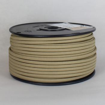 18/2 SPT-1 Antique Gold Nylon Over Braid White 105 Degree Wire