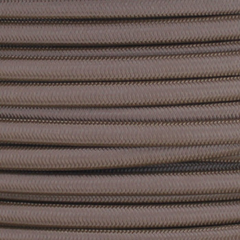 18/2 SPT-1 Bark Nylon Over Braid White 105 Degree Wire