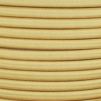 18/2 SPT-1 Corn Silk Nylon Over Braid White 105 Degree Wire