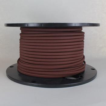 18/2 SPT-1 Mahogany Nylon Over Braid White 105 Degree Wire