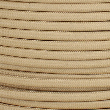 18/2 SPT-1 Spun Gold Nylon Over Braid White 105 Degree Wire