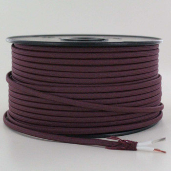 18/2 SPT-1 Burgundy/Wine Nylon Over Braid White 105 Degree Wire