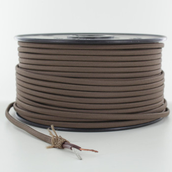18/2 SPT2-B Brown Nylon Fabric Cloth Covered Lamp and Lighting Wire
