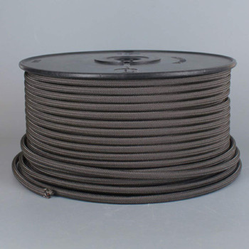 18/2 SPT2-B CHARCOAL NYLON FABRIC CLOTH COVERED LAMP AND LIGHTING WIRE