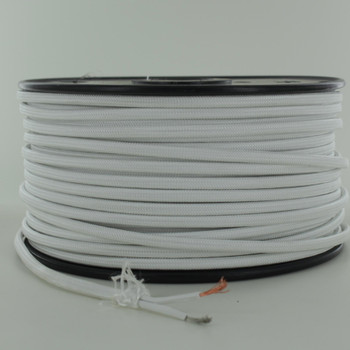 18/2 SPT2-B White  Nylon Fabric Cloth Covered Lamp and Lighting Wire