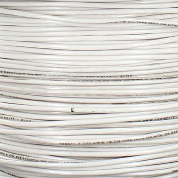 18/1 White Single Conductor TFFN 105 Degree Wire.