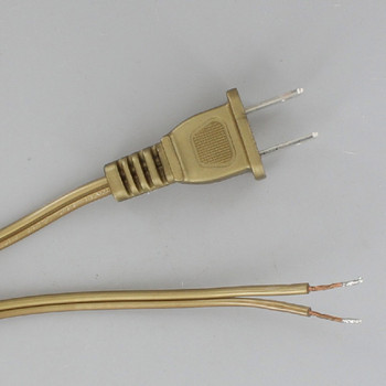 10ft. Metallic Gold 18/2 SPT-1 Cordset with Molded Polarized Plug
