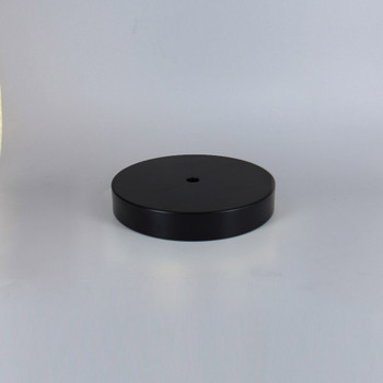 1/8ips Center Hole - 5in Flat Canopy/Base without Wire Way - Black Powdercoat