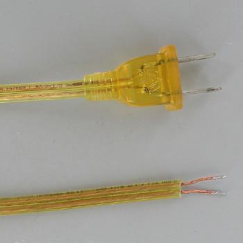 10ft. Transparent Gold 18/2 SPT-2 Cordset with Molded Polarized Plug