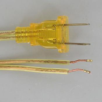 8ft. Transparent Gold 18/2 SPT-2 Cordset with Molded Polarized Plug