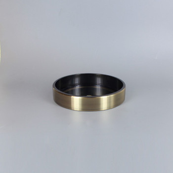 1/8ips Center Hole - 5in Flat Canopy/Base without Wire Way - Antique Brass Finish