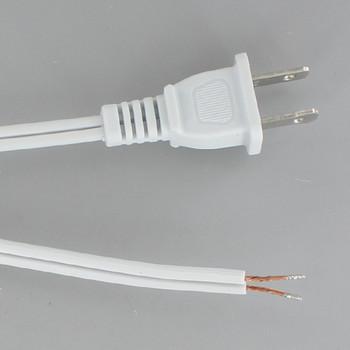 15ft. White 18/2 SPT-2 Cordset with Molded Polarized Plug