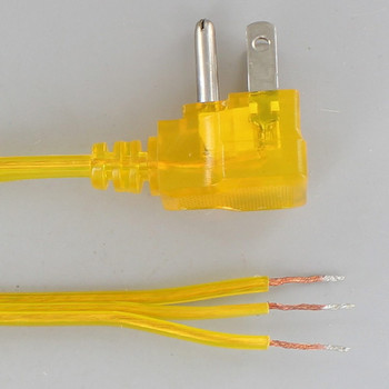 10ft. Gold 18/3 SPT-2 Flat Plug Cordset with Tinned Ends and 3-Prong Grounded Molded Plug