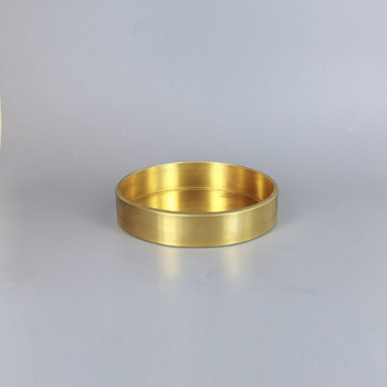 1/8ips Center Hole - 5-1/2in Flat Canopy/Base without Wire Way - Unfinished Brass