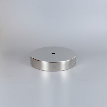 1/8ips Center Hole - 5in Flat Canopy/Base without Wire Way - Polished Nickel