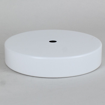 1/8ips Center Hole - 5in Flat Canopy/Base without Wire Way - White Powdercoat