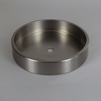 1/8ips Center Hole - 5in Flat Canopy/Base without Wire Way - Satin/Brushed Nickel
