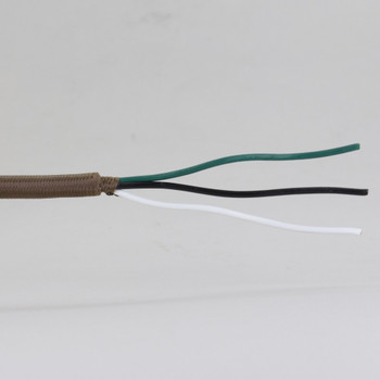 15ft Long - 18/3 SVT-B Brown Cloth Covered Pre-Processed Wire Harness