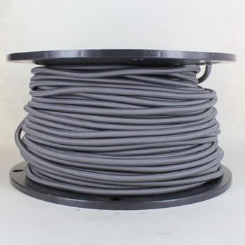 250ft Spool Grey Nylon Covered Oval 2 X 0.75mm HO3VVH2-F Harmonized PVC Jacketed Light Duty Flexible Cord