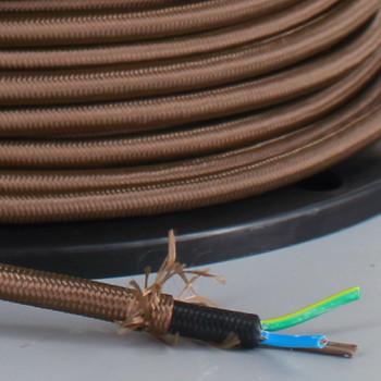 250Ft Spool BROWN NYLON COVERED WIHOV3X75B