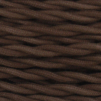 18/2 Twisted Brown Cotton Cloth Covered Wire