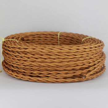 18/2 Twisted Antique Bronze Cloth Covered Wire