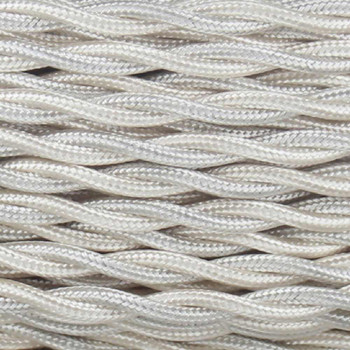 18/2 Twisted Ivory Rayon Covered Wire